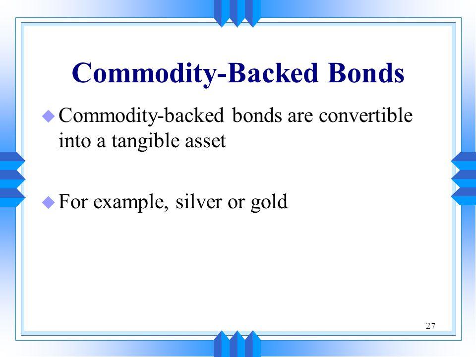 Commodity-Backed Bonds