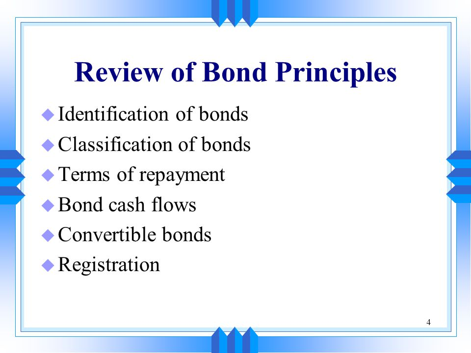 Review of Bond Principles