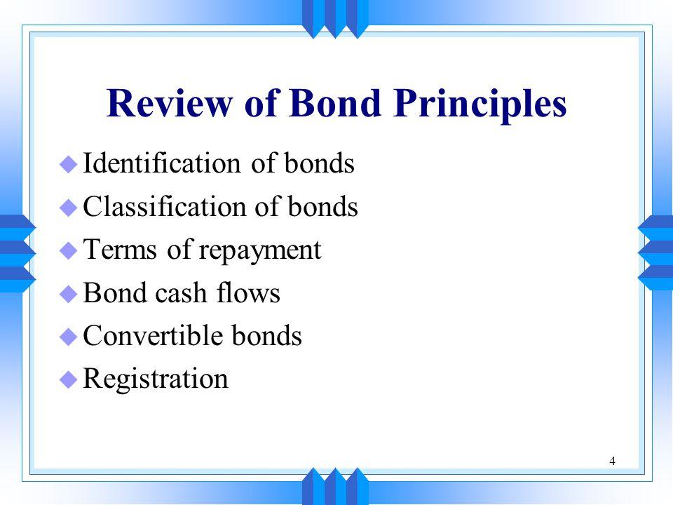 Review of Bond Principles