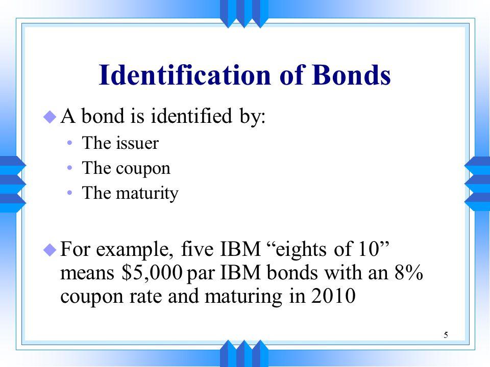 Identification of Bonds