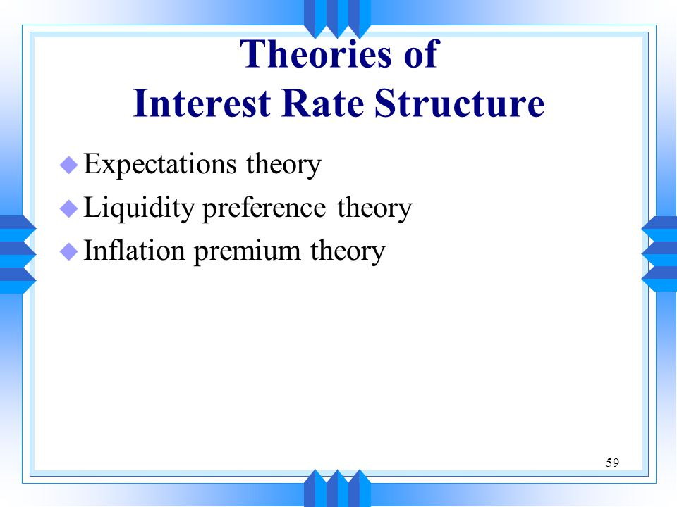 Theories of Interest Rate Structure