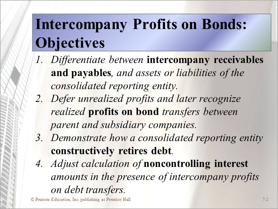 Intercompany Profits on Bonds: Objectives