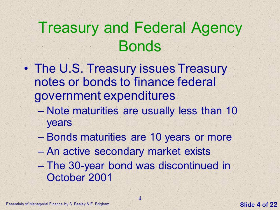 Treasury and Federal Agency Bonds