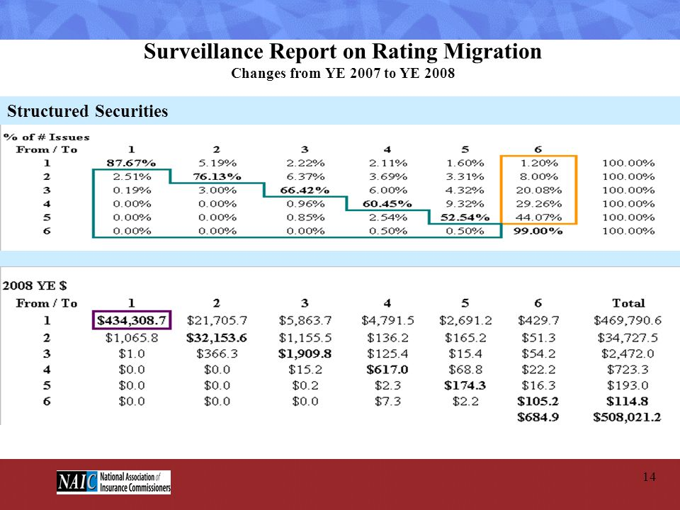 Surveillance Report on Rating Migration