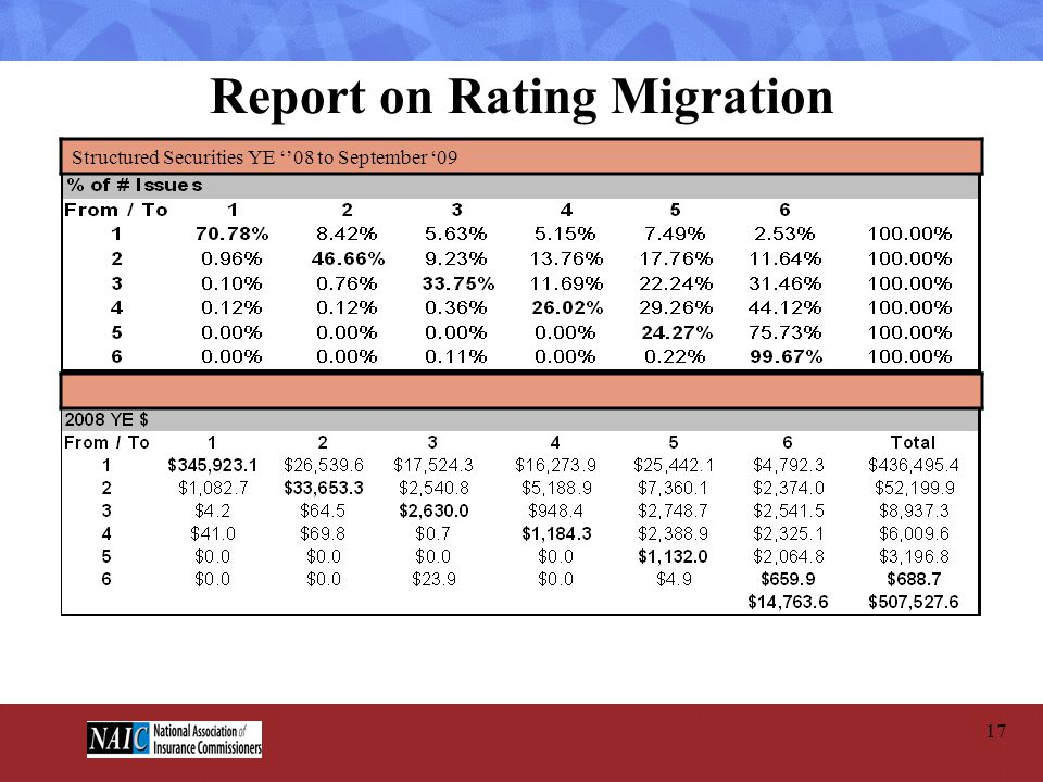 Report on Rating Migration