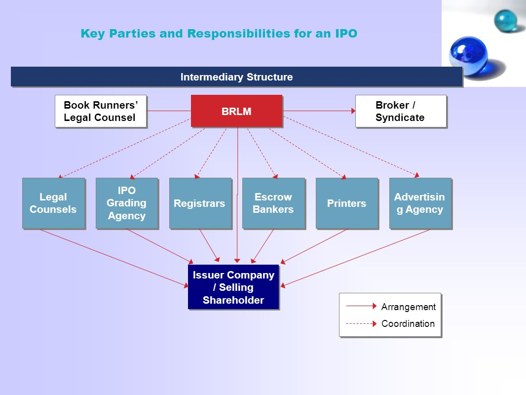 Intermediary Structure Issuer Company / Selling Shareholder