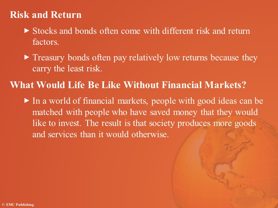 What Would Life Be Like Without Financial Markets