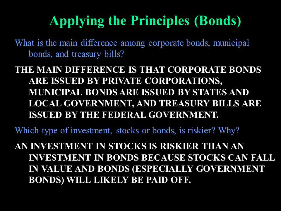 Applying the Principles (Bonds)