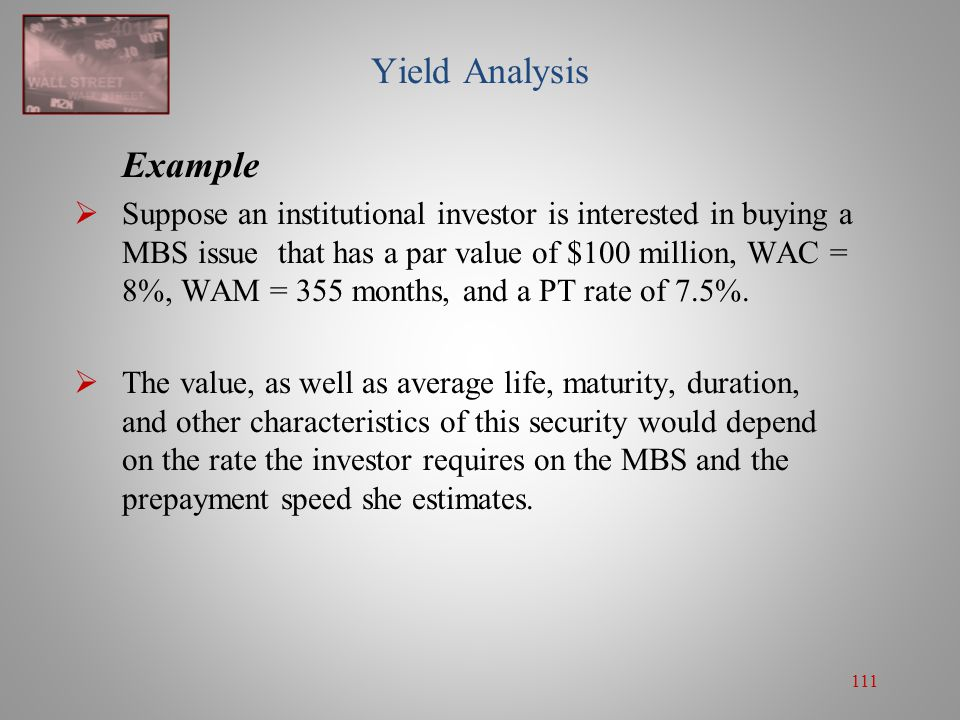 Yield Analysis Example
