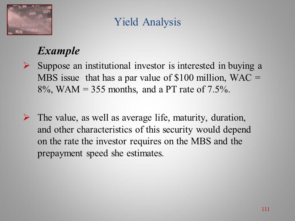 Yield Analysis Example