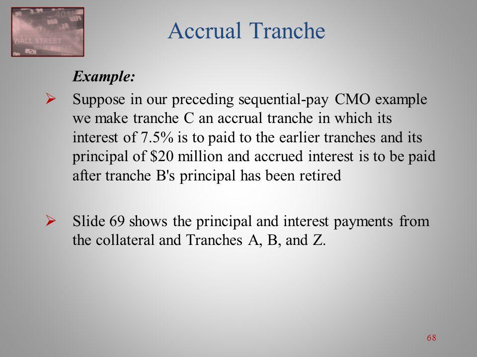 Accrual Tranche Example: