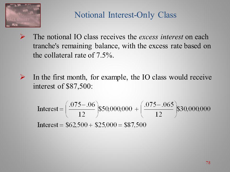 Notional Interest-Only Class