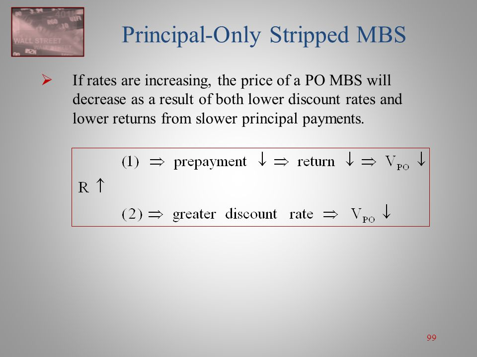 Principal-Only Stripped MBS