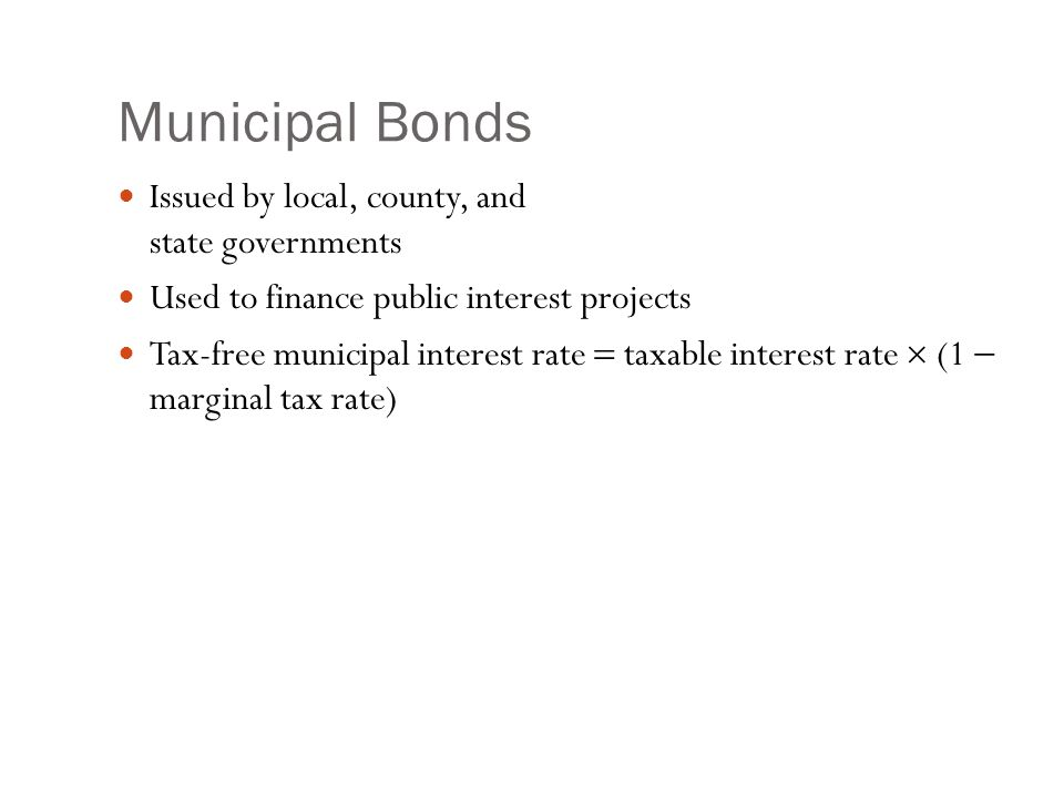 Municipal Bonds: Example