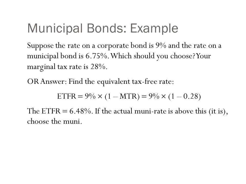 Municipal Bonds Two types