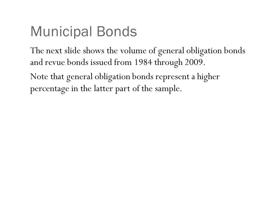 Municipal Bonds: Comparing Revenue and General Obligation Bonds