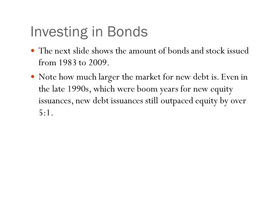 Investing in Bonds