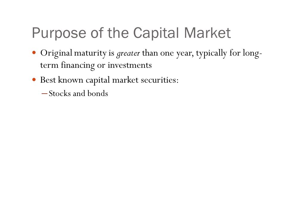 Capital Market Participants