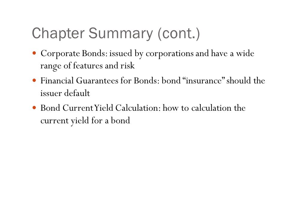 Chapter Summary (cont.)