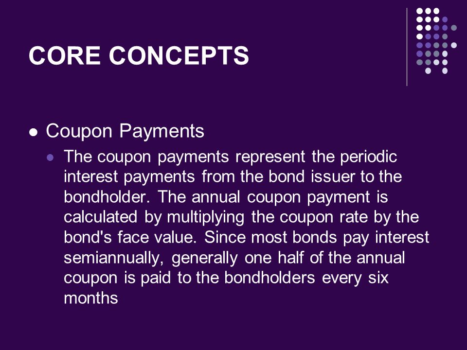 CORE CONCEPTS Coupon Payments