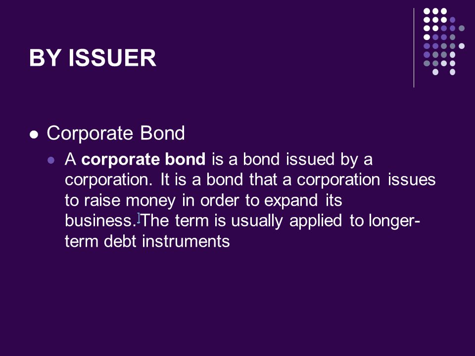 BY ISSUER Corporate Bond
