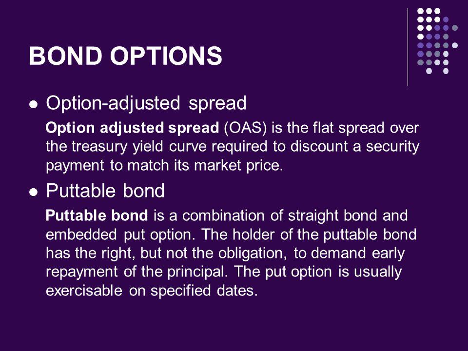 BOND OPTIONS Option-adjusted spread Puttable bond