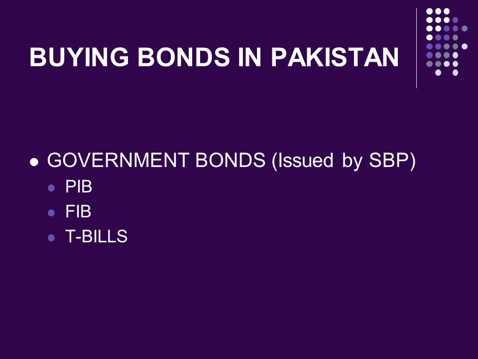 BUYING BONDS IN PAKISTAN