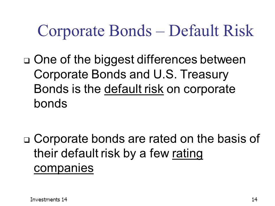 Corporate Bonds – Default Risk