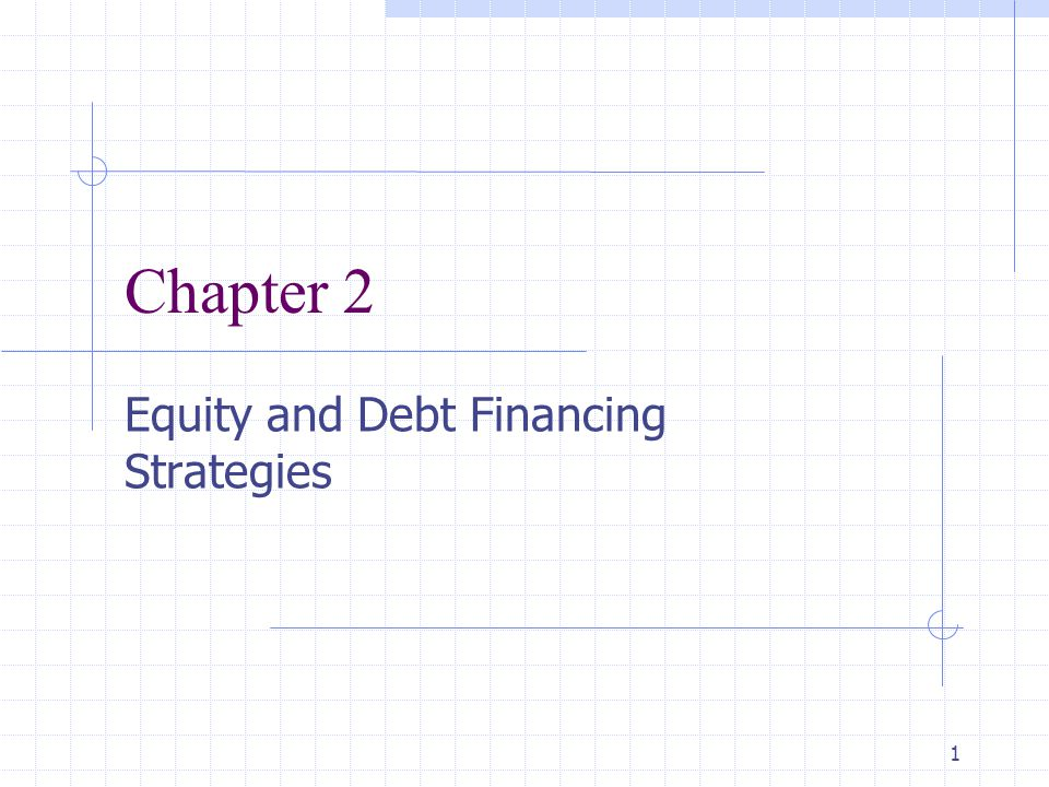 Equity and Debt Financing Strategies