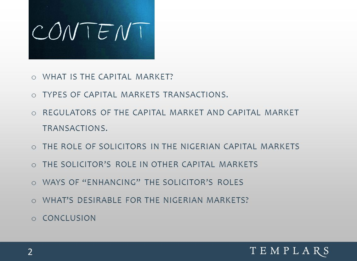 What is the Capital Market