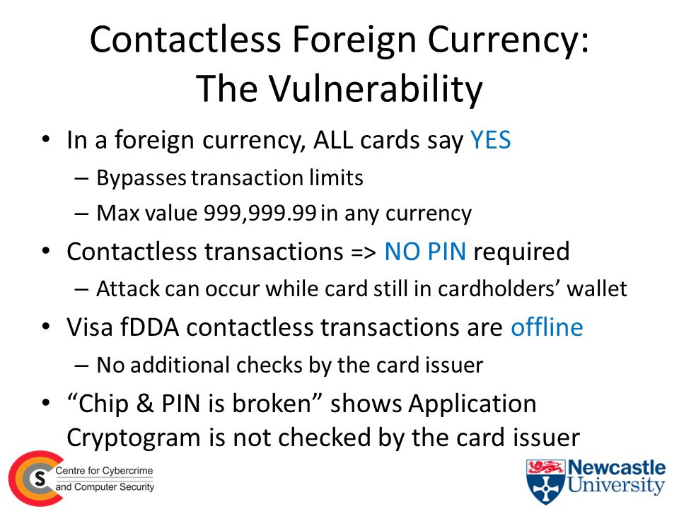 Contactless Foreign Currency: The Vulnerability