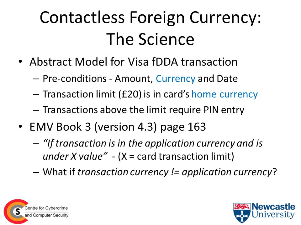 Contactless Foreign Currency: The Science