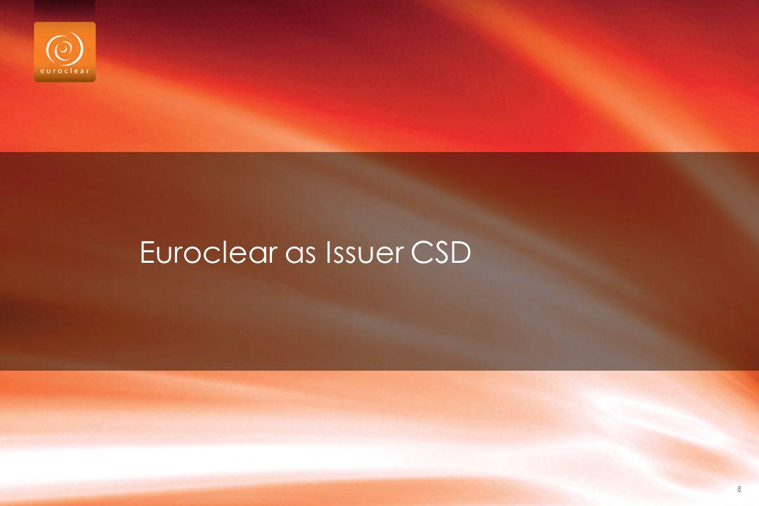 Euroclear as Issuer CSD