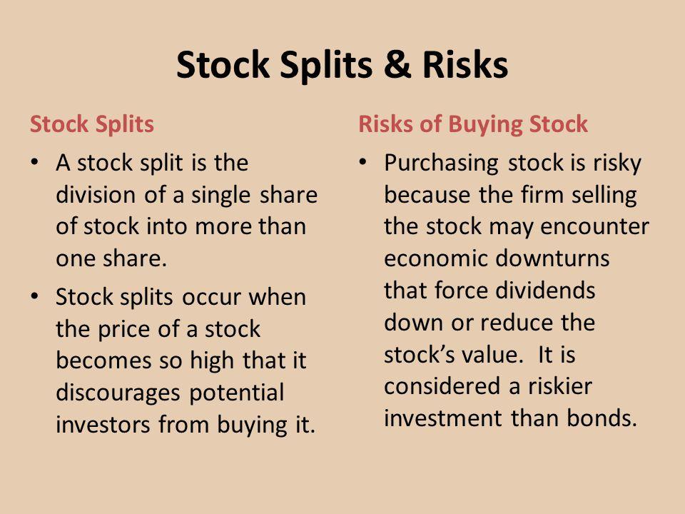 Stock Splits & Risks Stock Splits