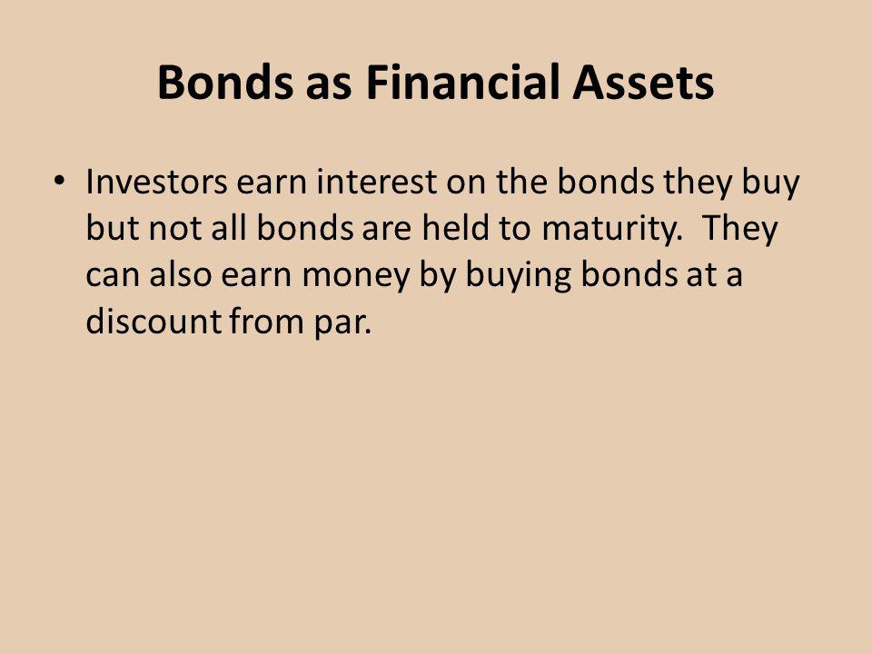Bonds as Financial Assets