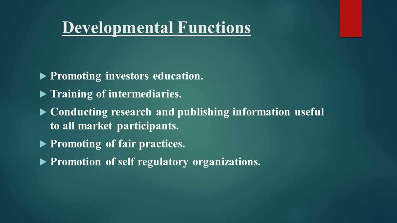 Developmental Functions