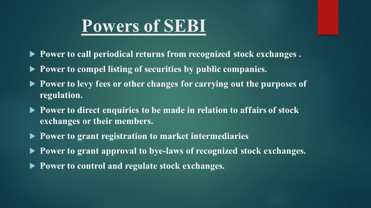 Guidelines of sebi ppt for Powers bureau issue 13