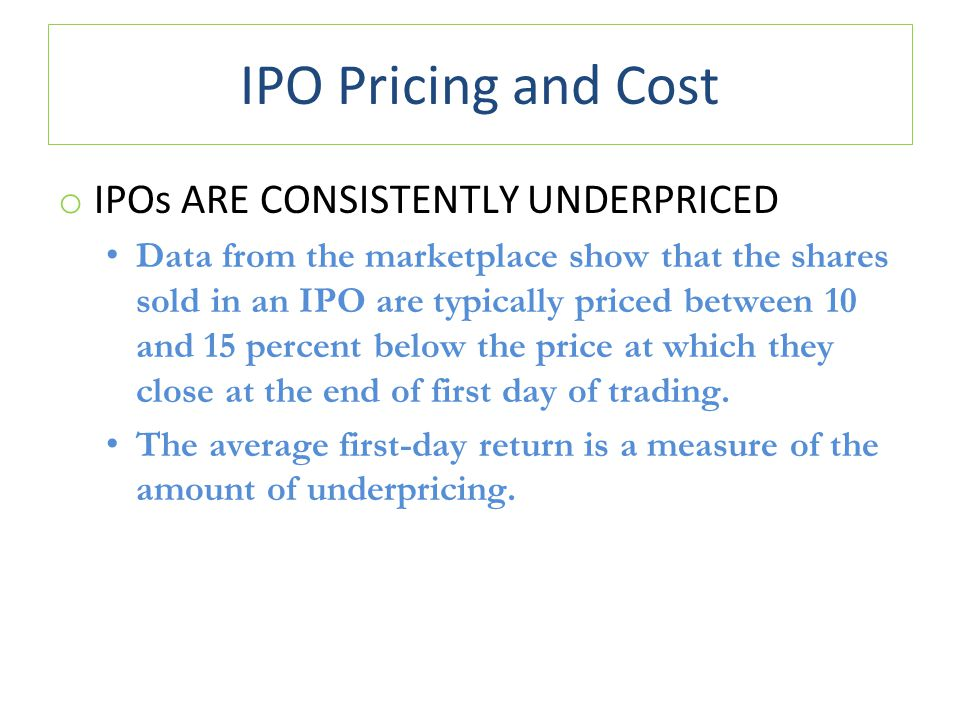 cost of ipo The mathematics of an ipo go as follows: before the ipo, twitter is owned by the founders, the early employees, and some early investors (for example, venture capital firms and angel investors.