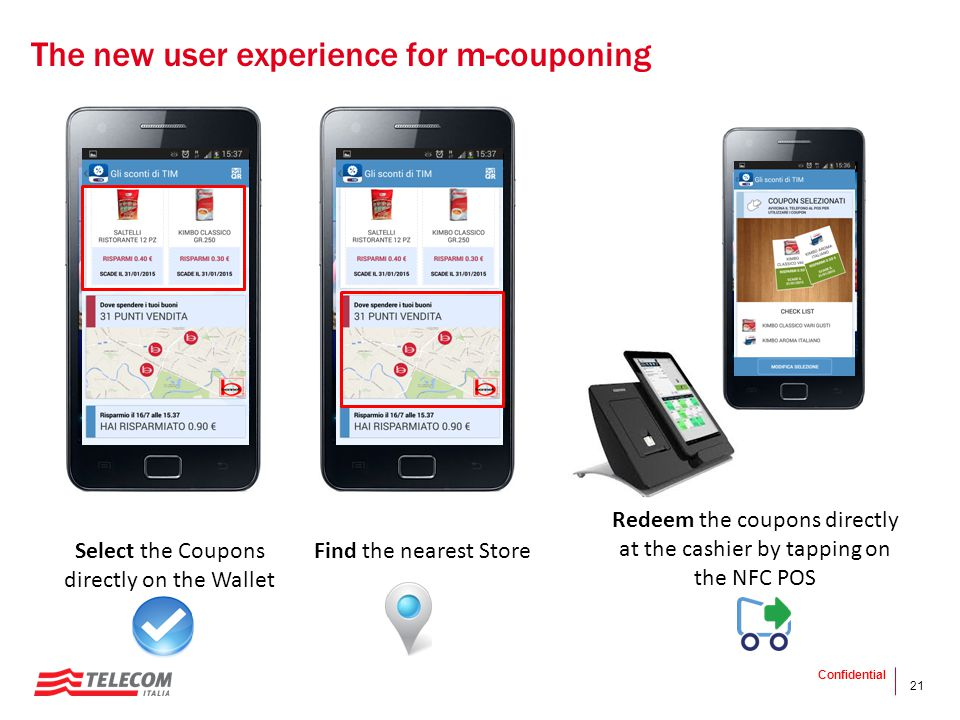 The new user experience for m-couponing