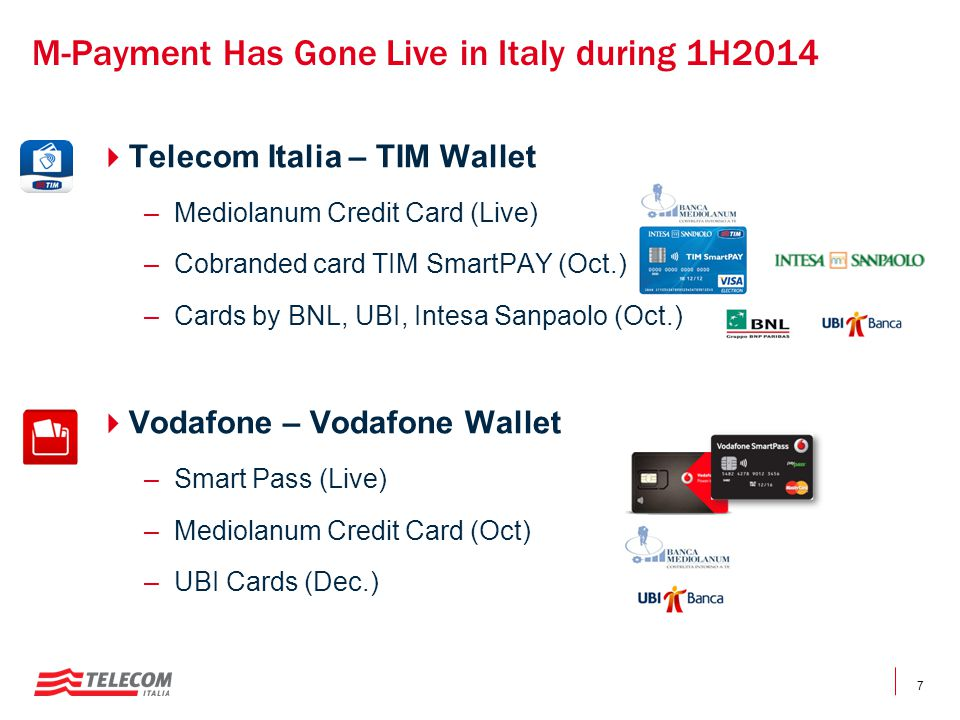 M-Payment Has Gone Live in Italy during 1H2014