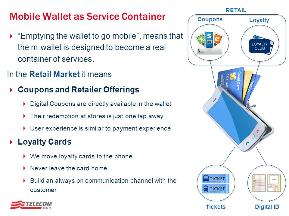 Mobile Wallet as Service Container