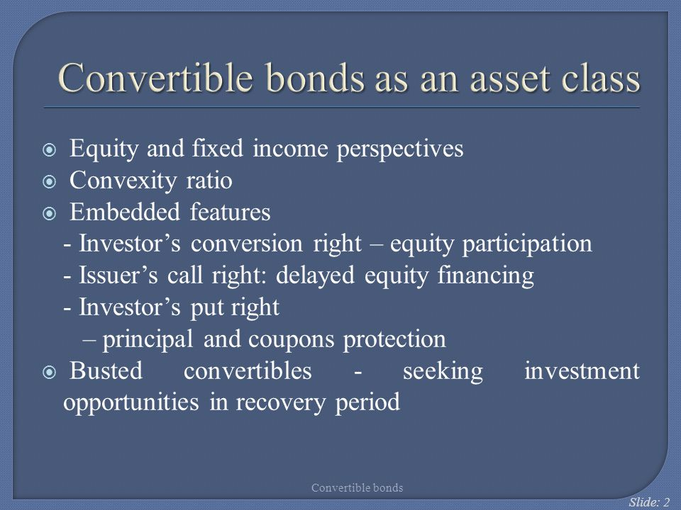 Convertible bonds as an asset class