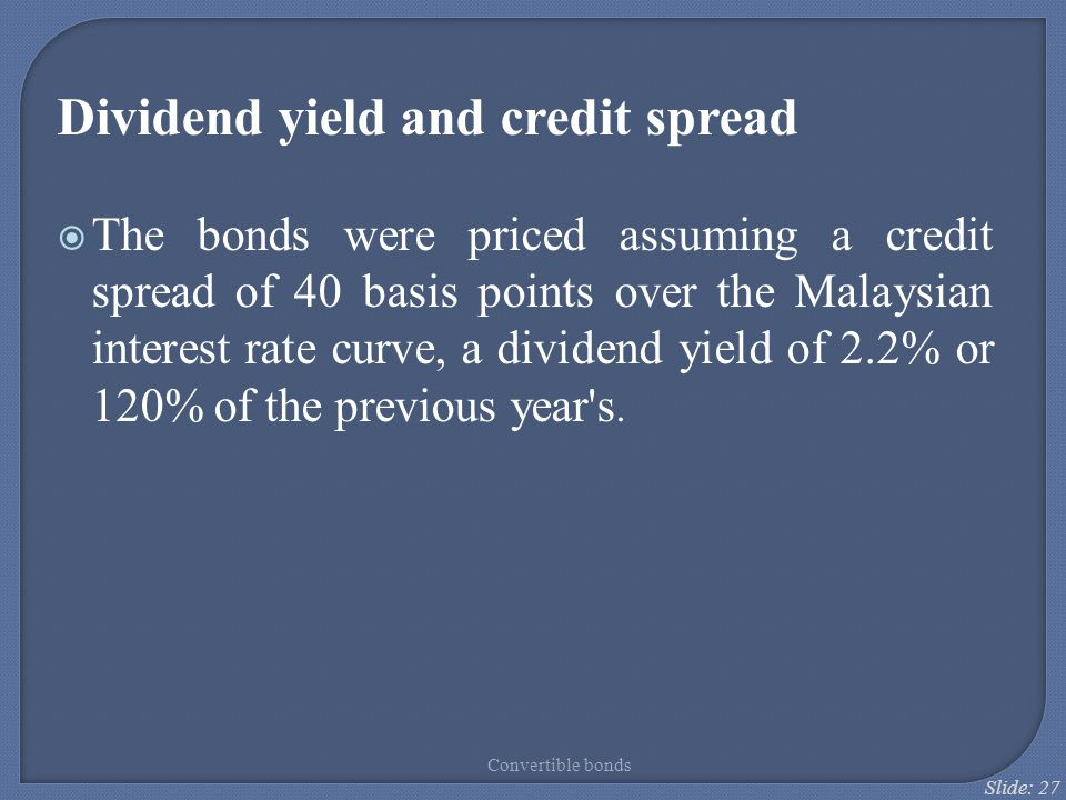 Dividend yield and credit spread