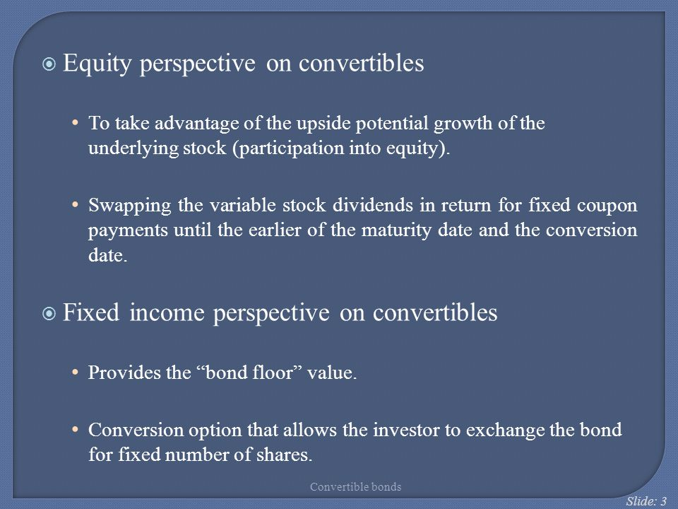 Equity perspective on convertibles