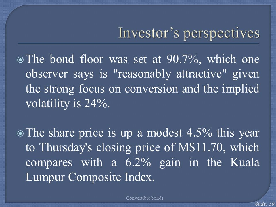 Investor's perspectives