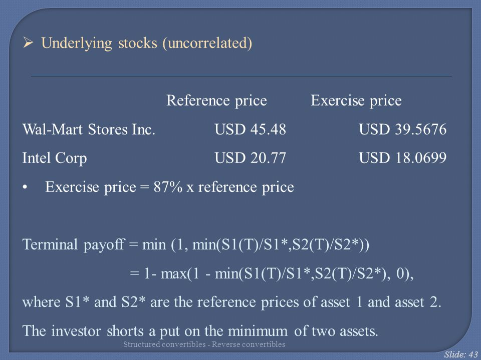 Underlying stocks (uncorrelated)