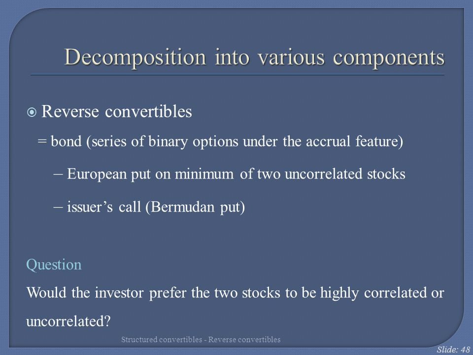 Decomposition into various components