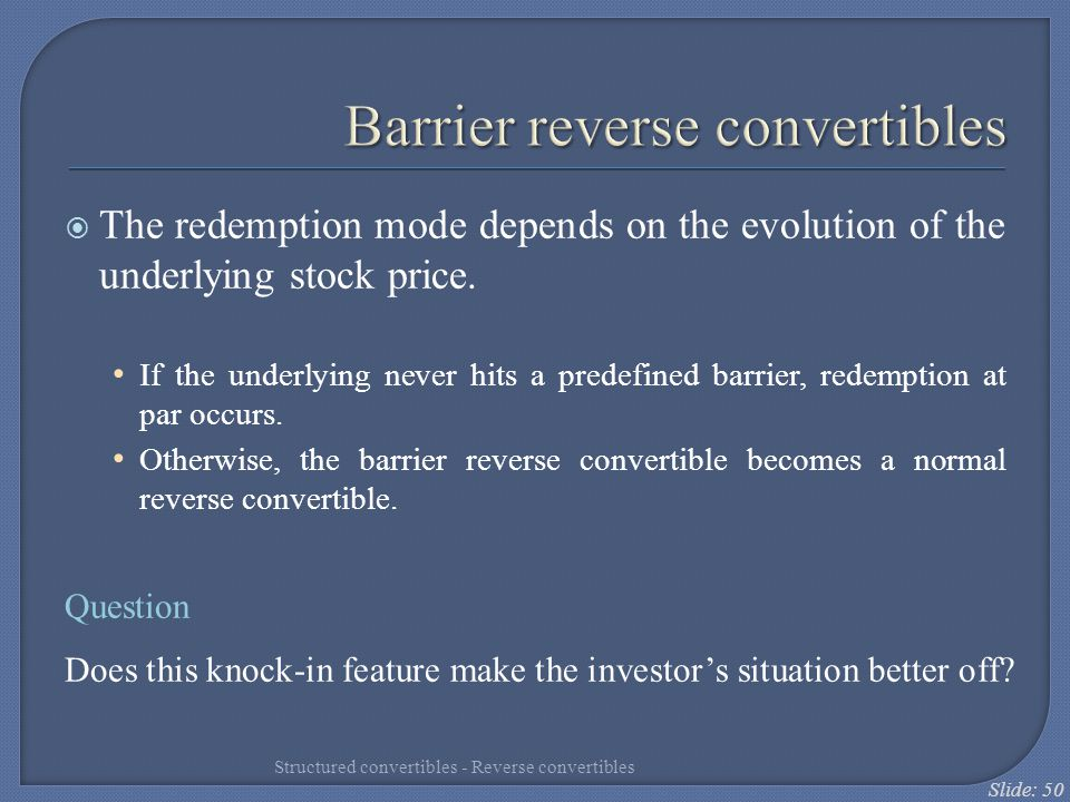 Barrier reverse convertibles