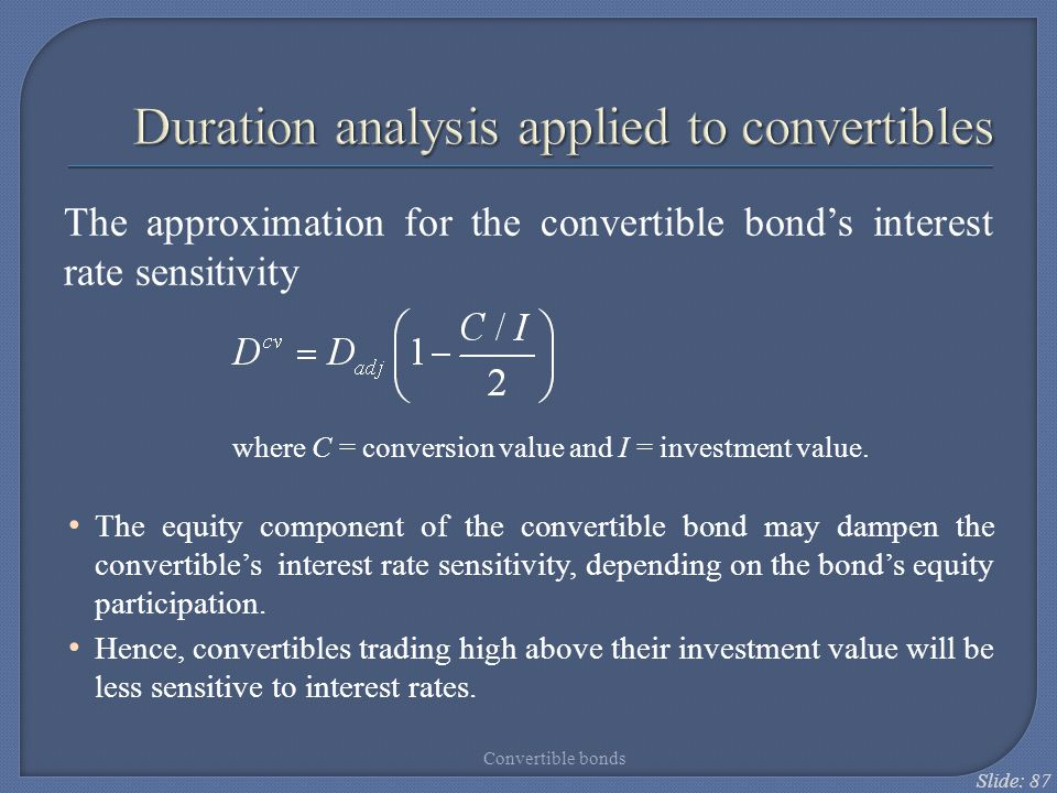 Duration analysis applied to convertibles