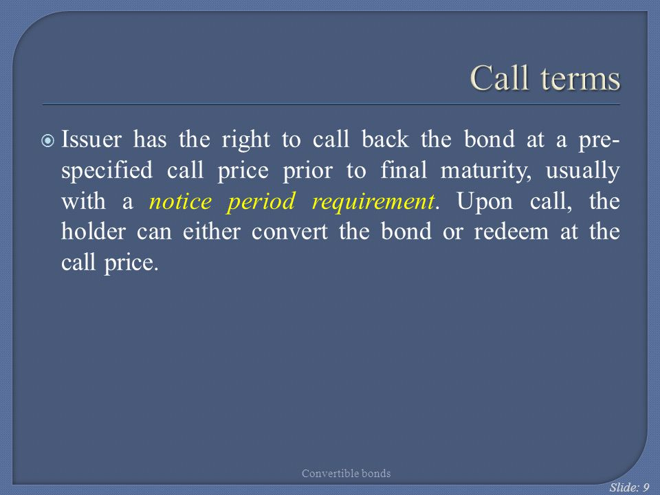 Call terms